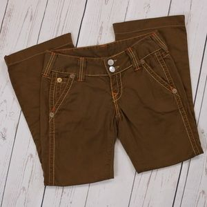 True Religion Brand Jeans Brown Bootcut Pants